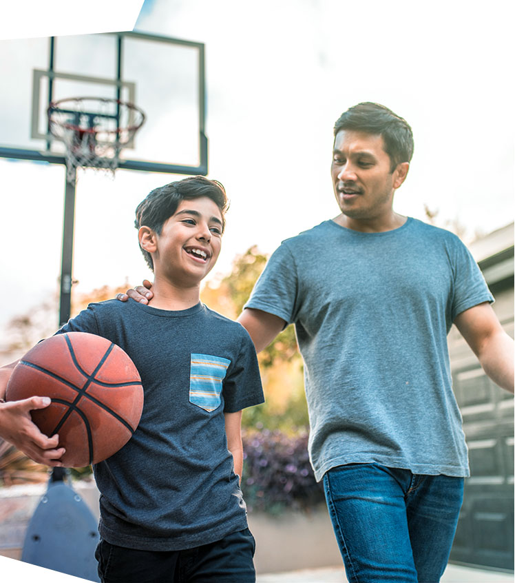 Father & Son Playing Basketball | Our Community Our Kids